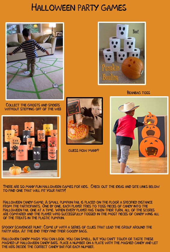 creative games for halloween parties at home or school