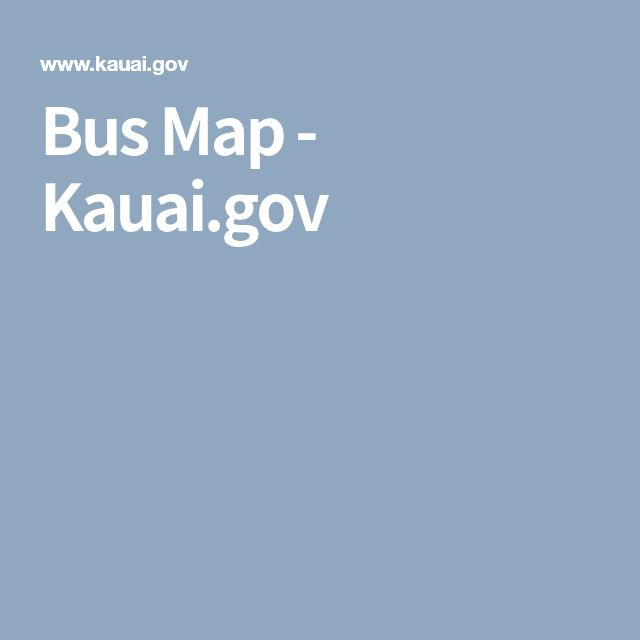 Bus Map - Kauai.gov