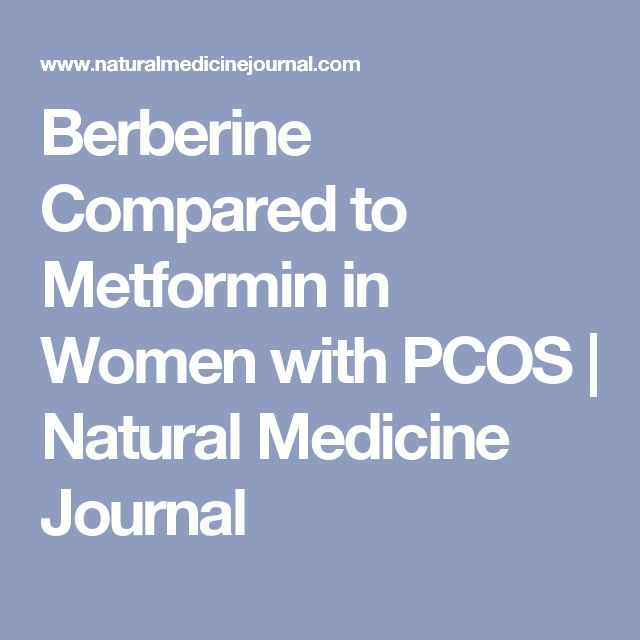 Berberine Compared to Metformin in Women with PCOS | Natural Medicine Journal
