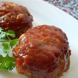 Mini Meatloaves - The ketchup and brown sugar give these family favorite meatloaves a tangy flavor.