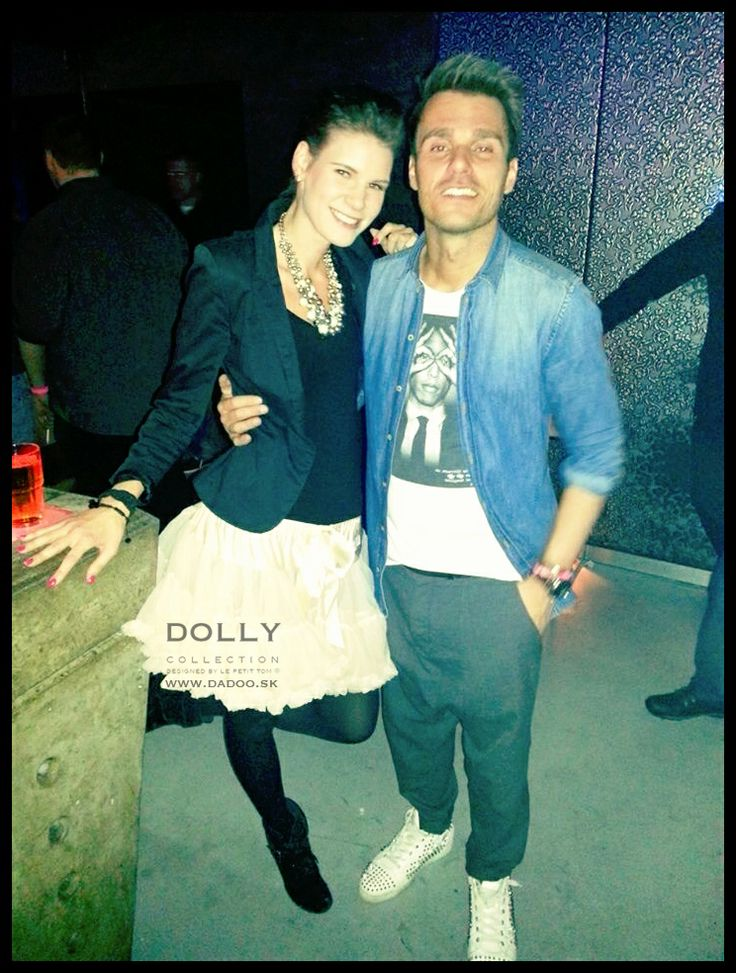 famous Leoš Mareš and beautiful girl in DOLLY skirt