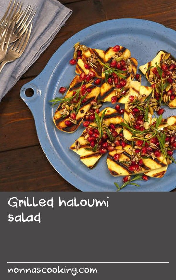 Grilled haloumi salad | Good-quality haloumi is the key to making this simple dish sing. Have everything ready before you cook the haloumi as this dish is best eaten fresh off the chargrill.