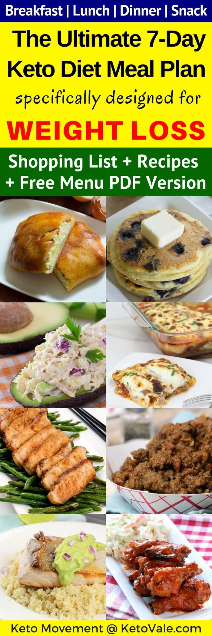 Check Meal Plan #2 on this page for the Ultimate 7-Day Keto Diet Meal Plan Specifically Designed For Weight Loss