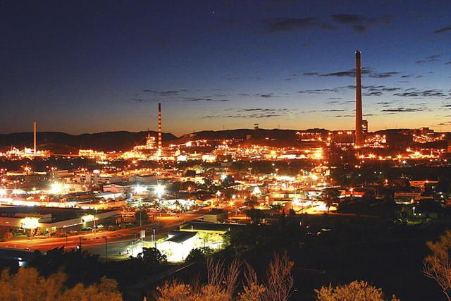 Mount Isa by night, Queensland, Australia. Been there, lived there.