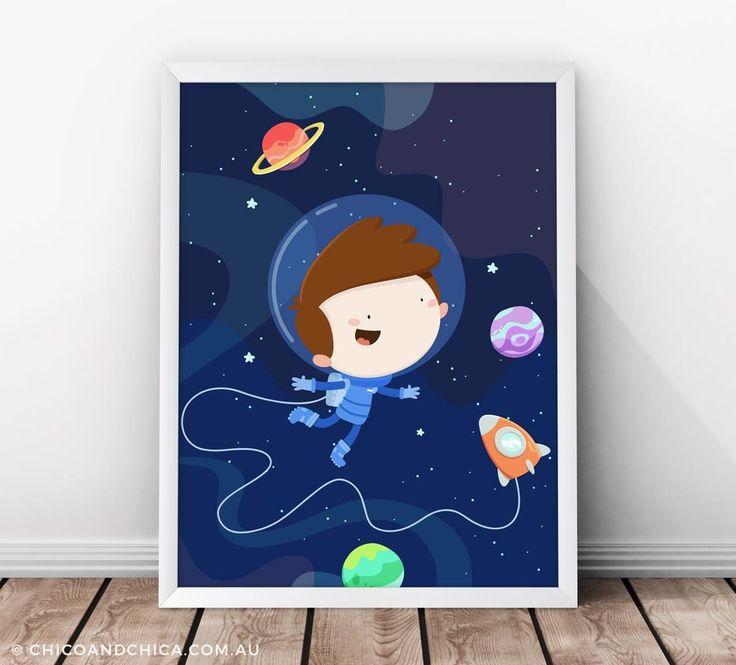 Astronaut - Kids Print - Chico & Chica