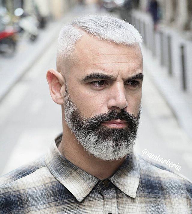 Grey & black Beard