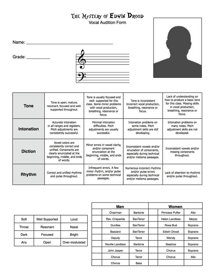 36 best images about Chorus on Pinterest Elementary music, Fun - audition form