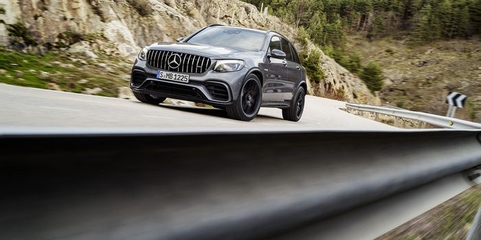 2018 Mercedes-AMG GLC63: Here It Is   It was only a matter of time before the ultra-popular GLC got the full AMG treatment.  In the US we don't get the Mercedes-AMG C63 Estate. Understandable because Americans don't buy wagons but a shame because it offers a fantastic mix of practicality and silly performance. The closest thing we'll get is this the 2018 GLC63 which is almost a C63 in SUV form.  Mercedes-Benz  There are a couple of key differences between the GLC63 and the C63 beyond ride…