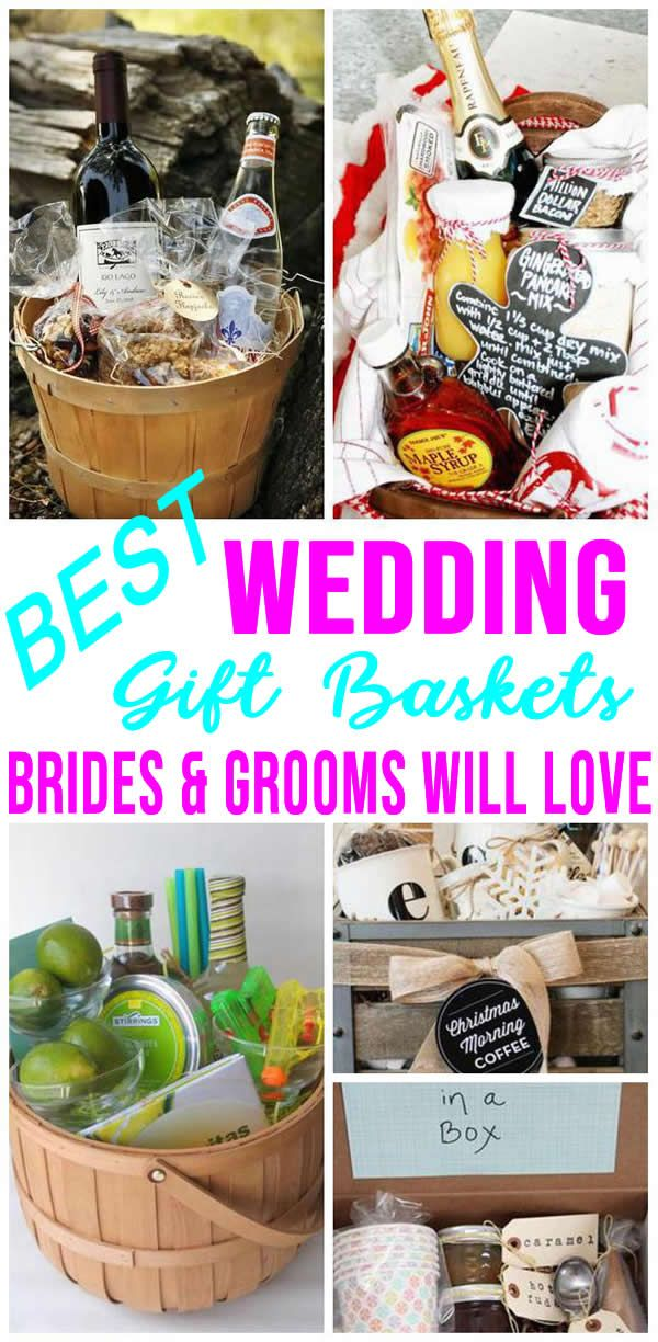 BEST Wedding Gift Baskets! DIY Wedding Gift Basket Ideas – For Bride and Groom – Couples – Creative – Unique – Cheap – Kitchen – Alcohol- Cleaning Supplies – Honeymoon