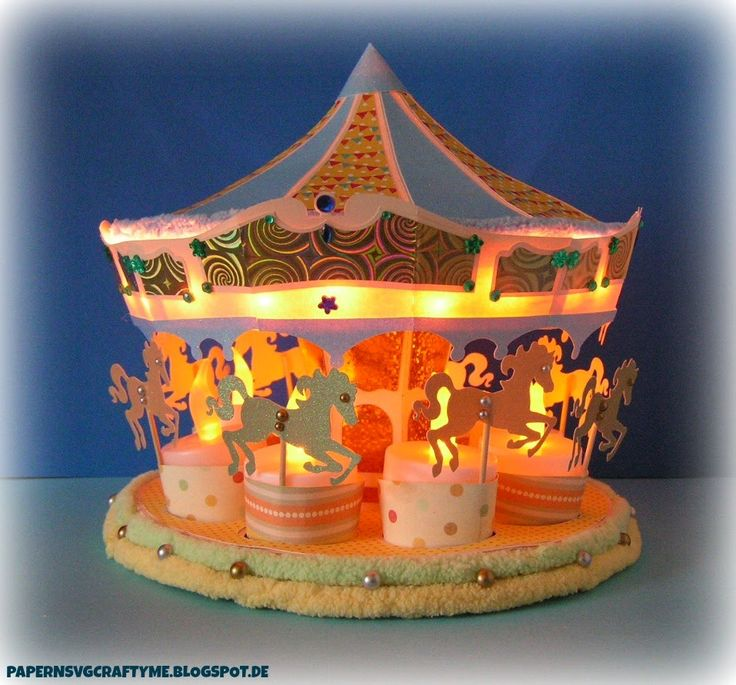 My illuminated Carousel Ride  from SVGcuts.