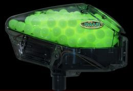 Glow in the dark paintballs, which are very useful in nighttime games.