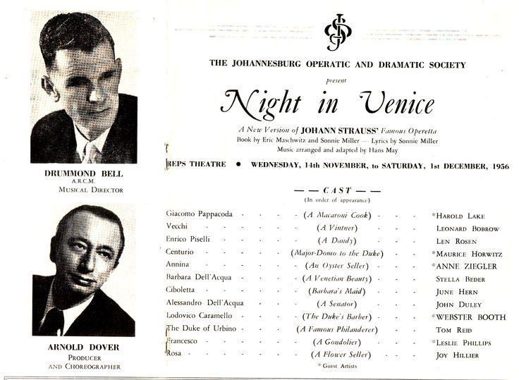 """""""Night in Venice"""" (1956)"""