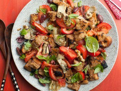 "Artichoke and Tomato Panzanella... this ""bread' salad is quite delicious and different!"