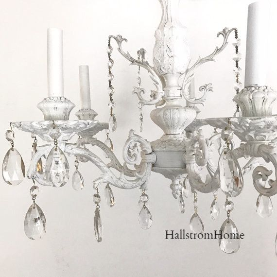 shabby chic chandelier wedding hanging light or hang in any room of your home that needs - Shabby Chic Chandelier