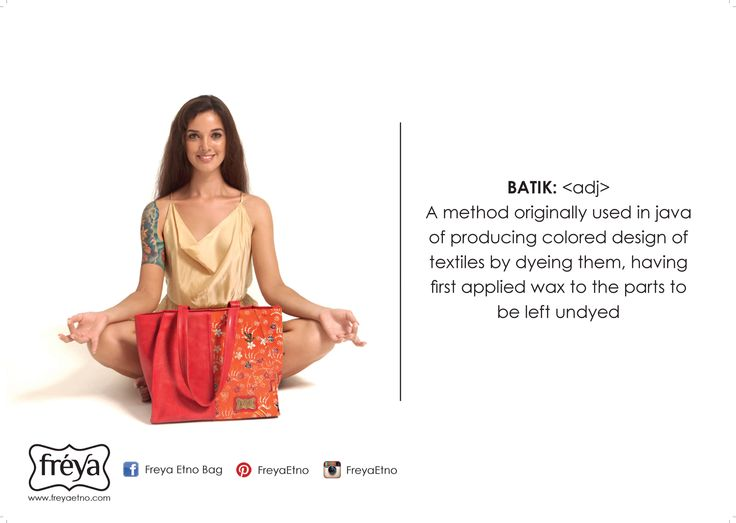 Batik quote for ethnic bag.... A traditional fabric created by batik painter...