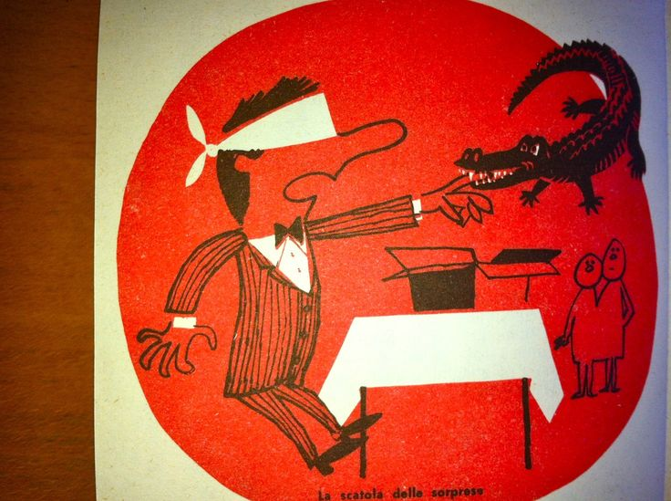 Giochi di Societa (a book of Italian party games). Illustration by B. Bodini, 1963