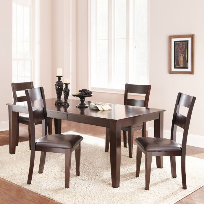 Steve Silver Co Victoria Standard Height Dining Set In Dark
