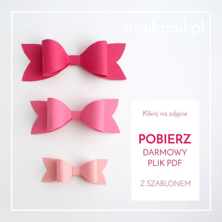 darmowy plik pdf tutorial papierowe kokardki papierowa kokardka kurs jak zrobić   free pdf template paper bow how to make