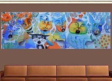 'Family portrait' - #Yelena - http://ift.tt/1XRnl39 ... #art #propertstyling #interiorstyling #decorative #interiodesign #bondi #sydney #melbourne #adelaide #perth #canberra #livingroom #modernart #gallery #cats #illustration #usa #catlove #brisbane #abstractart #artista  #surrealism