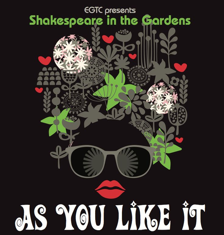 Shakespeare in the Gardens-  As You Like It  23rd Jan - 1st Feb 2015