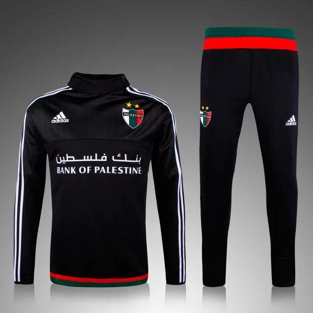 def36f4f7f boutique officiel Nouveau Survetement de foot Palestine Noir 2015 2016 pas  cher | ropa | Soccer shoes, Adidas jacket et Adidas