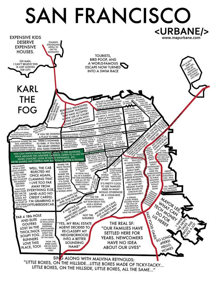 San Francisco neighborhoods based on their more infamous qualities