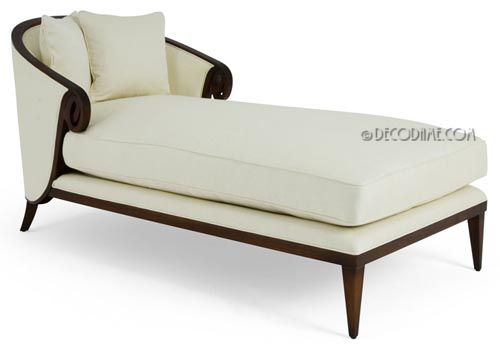 Art Moderne Style Chaise Lounge