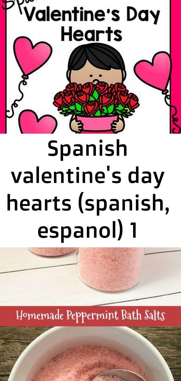 Spanish Valentine S Day Hearts Spanish Espanol 1 Valentines Day Hearts Valentines Day Memes Peppermint Bath Salts