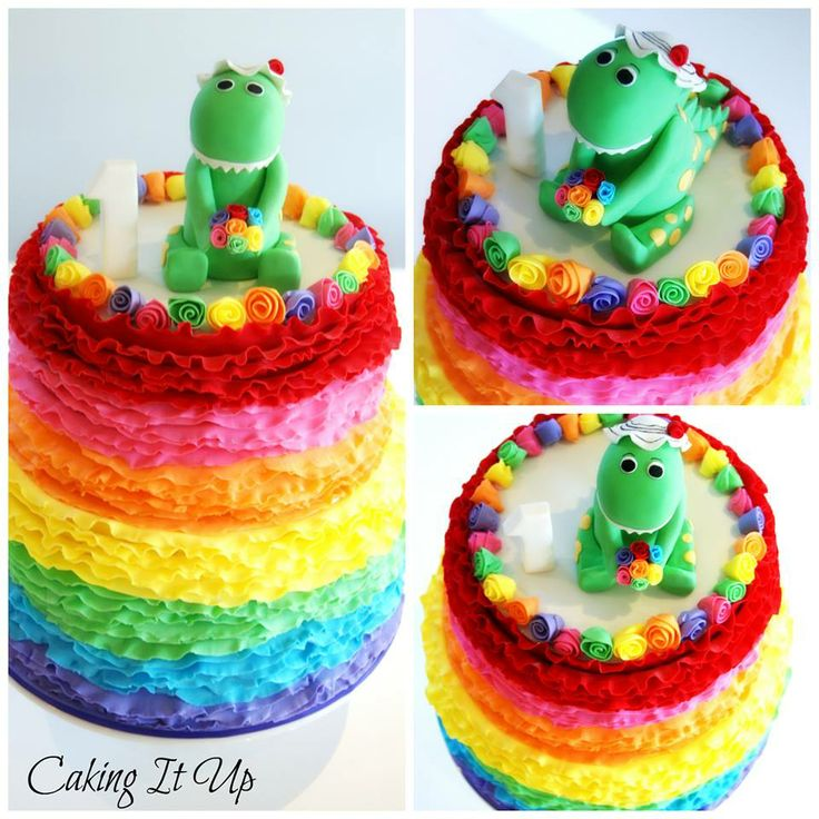 Dorothy the Dinosaur Birthday cake. Defs making this for the girls! They will LOVE it! :)