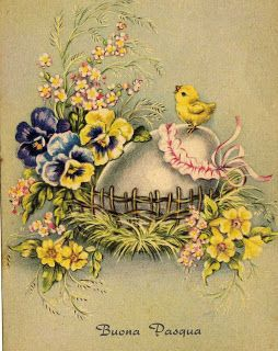 Vintage Easter Card ~ Miss Jane