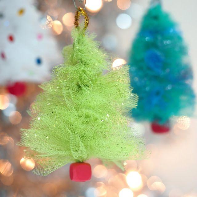 Christmas Tree Ornaments Tule