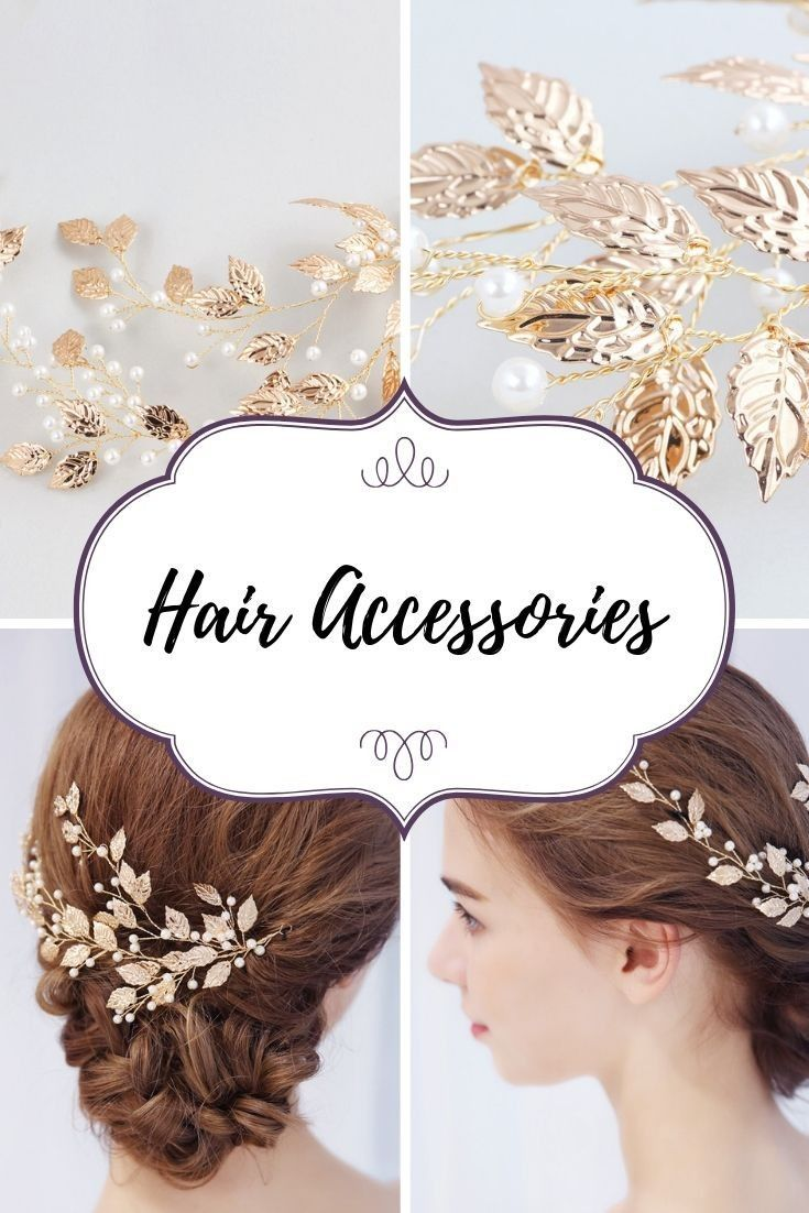 gold leaf shaped pearl decors wedding hair accessories for