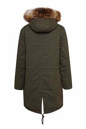 IQ parka long with german fur OLIVE