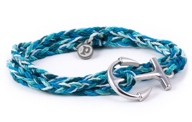 Silver Anchor Aqua | Pura Vida Bracelets Love this. Reminds me of my darling, because I keep her anchored. She's the dreamer and I'm the realist.