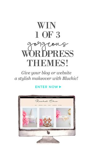 Win 1 of 3 gorgeous WordPress themes and give your blog or website a stylish makeover with Bluchic!