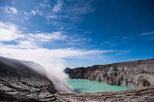Kawah Ijen - Ijen Crater located northwest of Mount Merapi, between Banyuwangi and Bondowoso regencies, East Java,
