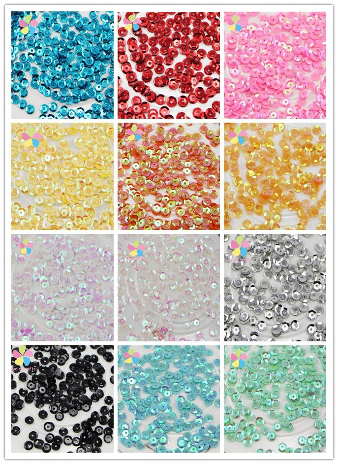 Cheap cup sequins, Buy Quality sequin cup directly from China sequins for crafts Suppliers: Lucia Craft 5mm 20g/lot(approx 2000pcs) flake Rainbow Cup Sequin for home&wedding decoration confetti D24020002(5D20g)