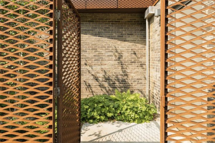 Corten Steel screen. Referenced from a property on the Modern House.