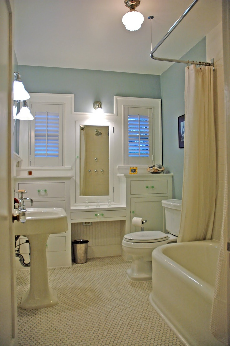86 best bungalow bathrooms images on pinterest - Arts and crafts style bathroom design ...