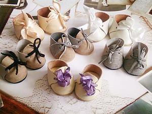 Making the shoes miniature dolls | Fair Masters - handmade, handmade