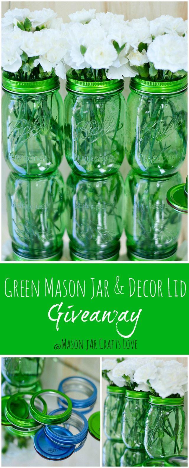 Green Mason Jar Giveaway - Mason Jar Crafts Love
