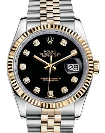 Rolex 116233 bkdj Datejust Steel and Yellow Gold. #rolex