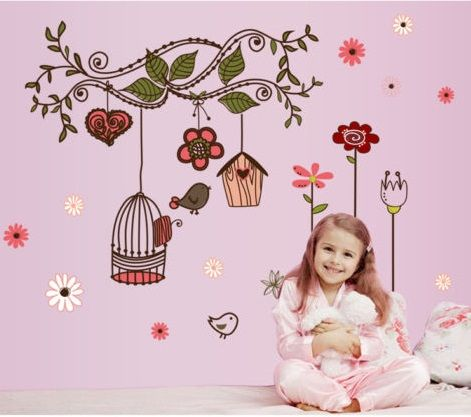 Bird Cage Wall Decal   Visit Facebook for more children's Wall Decals.  Precious Little Angels