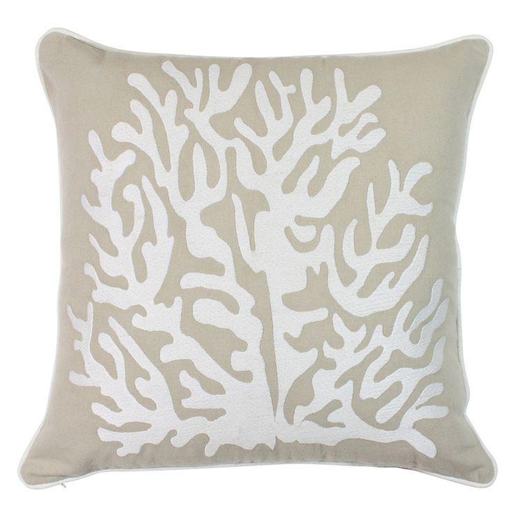 Coral Neutral Cushion 45x45cm