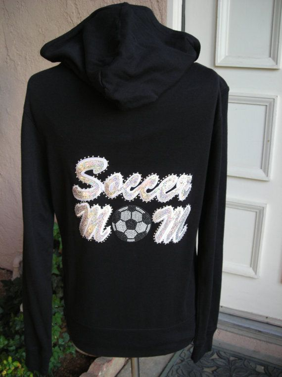 Might just make Lola play soccer JUST so I can wear this hahahaa    Soccer Mom in Pearlscent Sequins Hoodie by glamourtees on Etsy, $29.00