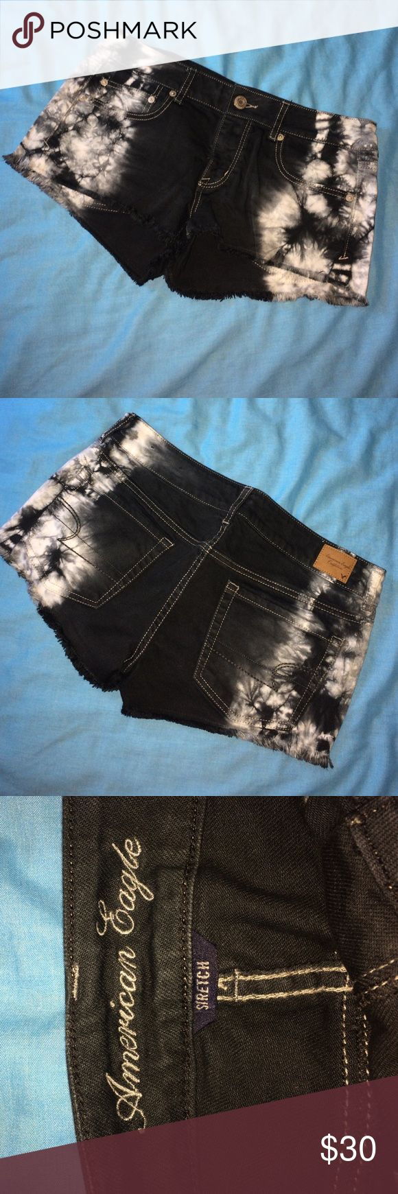 Acid Wash shorts Super cool acid wash shorts from American eagle. Stretch material, size 6. Worn once. American Eagle Outfitters Shorts Jean Shorts