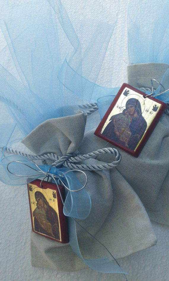 ICON FAVORS.Orthodox Baptism bombonieres by CHRISSASHANDMADE