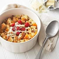 White Chocolate and Apricot Bread Pudding (made in slow cooker)