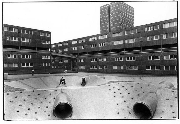 modern architecture, mid-century, Yorkshire Development Group housing system, Tony Ray Jones
