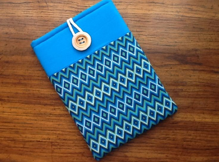 IPad Pro Cover Sleeve, Samsung Galaxy Tab2 Sleeve Cover, Blue, Green Chevron Print by LindaLeasBoutique on Etsy